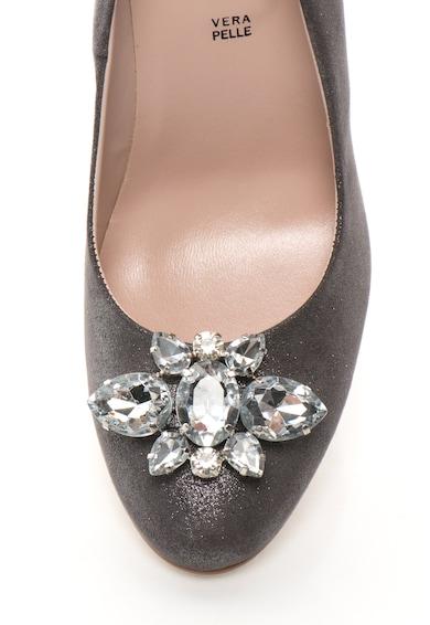 Zee Lane Collection Pantofi de piele intoarsa sintetica cu toc inalt si strasuri Femei