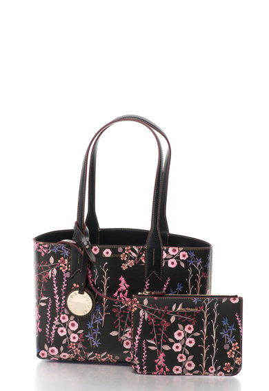Emporio Armani Geanta de umar de piele sintetica cu model floral si portofel interior Femei
