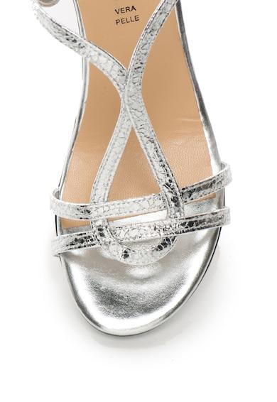 Zee Lane Collection Sandale cu bareta in forma de T si aspect metalizat Femei
