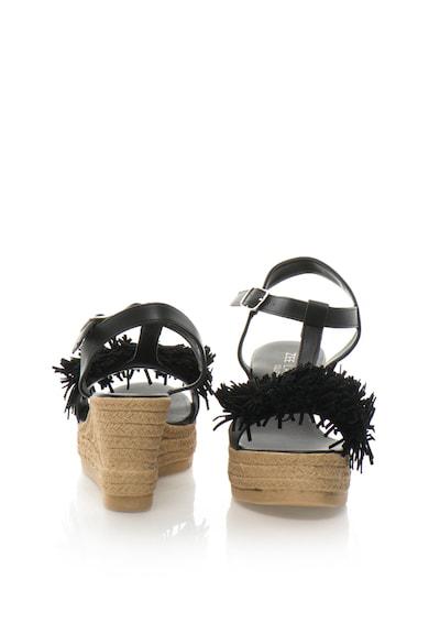Zee Lane Collection Sandale wedge cu bareta in forma de T si ciucure Femei