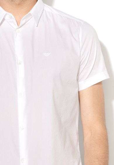 Emporio Armani Риза с къси ръкави и бродирано лого Мъже