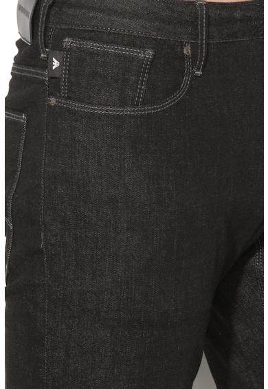 Emporio Armani Slim fit farmernadrág kontrasztos öltésekkel férfi