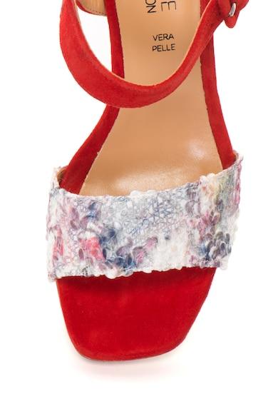 Zee Lane Collection Sandale slingback de piele intoarsa cu detalii contrastante Femei