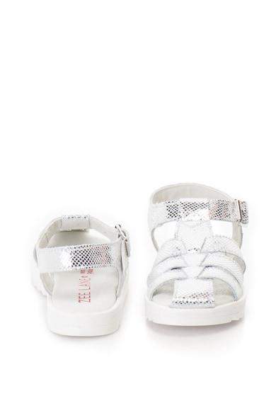 Zee Lane Sandale de piele cu aspect metalizat si barete multiple Fete