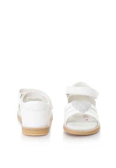 Zee Lane Sandale de piele sintetica cu bareta pe glezna si aplicatie cu inima Fete