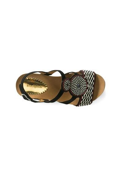 DESIGUAL Odisea Africa gyöngyökkel díszített szandál női