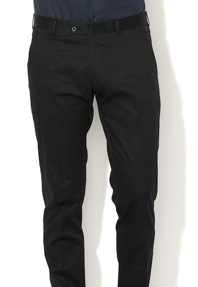 Zee Lane Collection Slim fit alkalmi nadrág visszahajtott szárvéggel férfi
