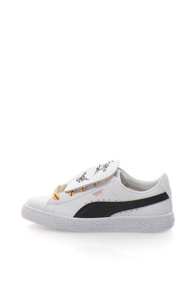 Puma Minions Basket Tongue sneakers cipő hímzett részlettel Lány