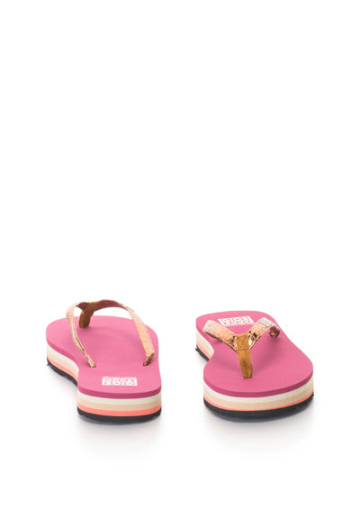 Gioseppo Papuci flip-flop cu aspect metalizat Femei