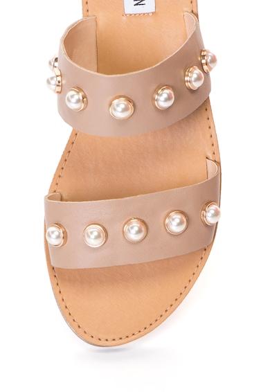 Steve Madden Papuci de piele decorati cu perle sintetice Femei