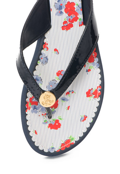 Lauren Ralph Lauren Papuci flip-flop cu aplicatie logo Raia Femei