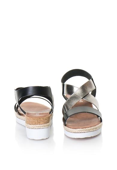 Zee Lane Sandale wedge slip-on de piele cu insertii metalizate Femei