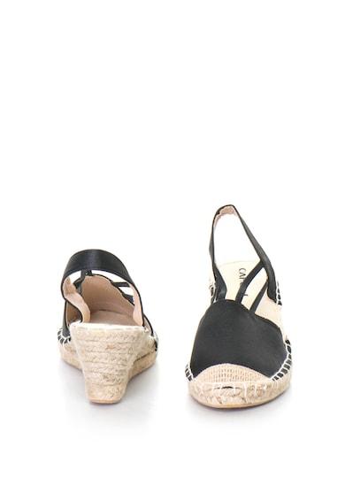 Oakoui Sandale wedge slingback tip espadrile cu aspect de satin GLOSSY Femei