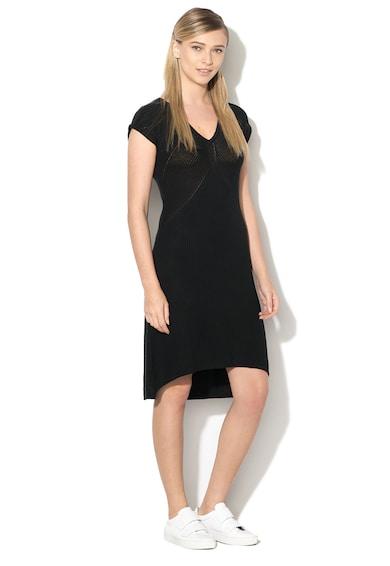 United Colors of Benetton Modáltartalmú ruha aszimmetrikus alsó szegéllyel női
