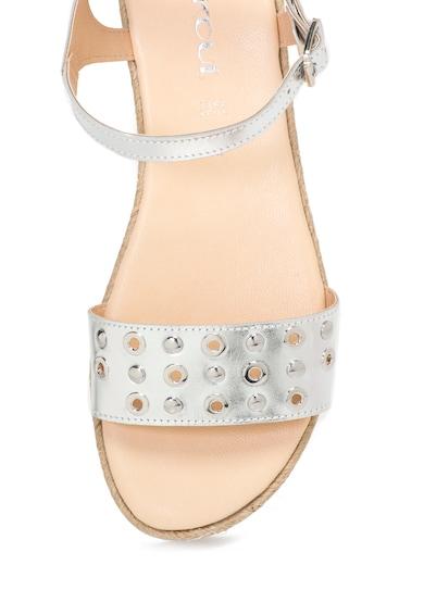 Oakoui Sandale de piele cu aspect metalizat Femei