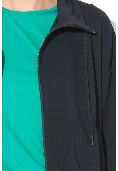 Undercolors of Benetton Bluza sport de casa, cu fermoar si doua buzunare Femei