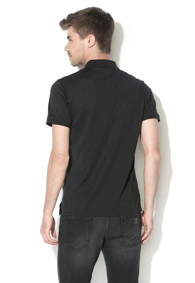 JUST CAVALLI Texturált galléros póló férfi