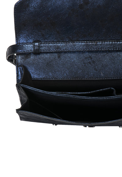 JUST CAVALLI Малка велурена чанта с метален ефект Жени