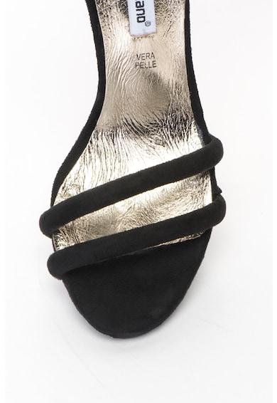 Francesco Milano Sandale de piele intoarsa sintetica cu toc inalt si bareta pe glezna Femei