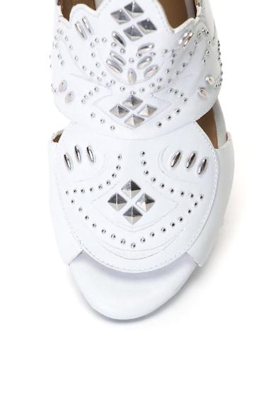 Bronx Кожени сандали с отворена пета и капси Жени