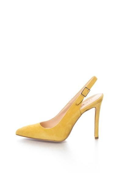 Zee Lane CAMELIA nyersbőr hegyes orrú cipő női