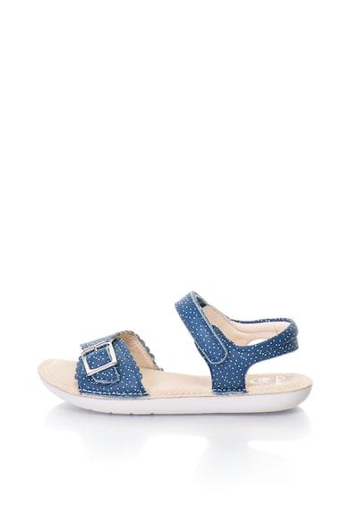 Clarks Sandale de piele cu buline si velcro IVY BLOSSOM Fete