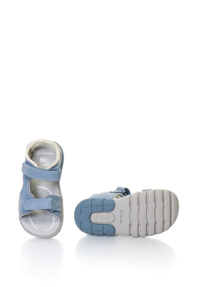Clarks Sandale de piele cu velcro Rocco Wave Baieti