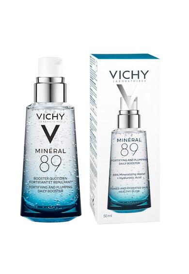 Vichy Gel-booster zilnic  Mineral 89 cu efect de hidratare, fortifiere si reumplere, cu acid hialuronic Femei