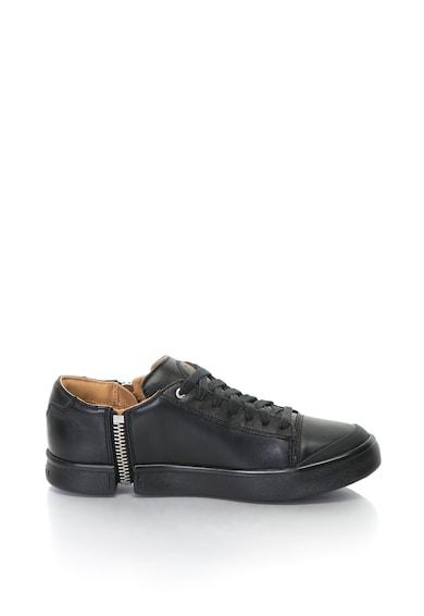 Diesel Pantofi sport de piele cu fermoar decorativ Nentish Barbati