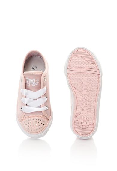 Primigi Сатинирани спортни обувки с декоративни камъни Момичета