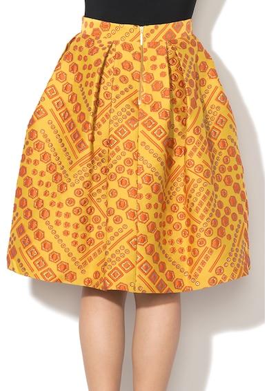 Closet LONDON Fusta cu croiala pe bie si pliuri reversibile Femei