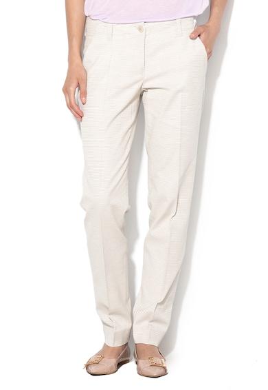 Armani Jeans Straight alkalmi nadrág diszkrét mintával női