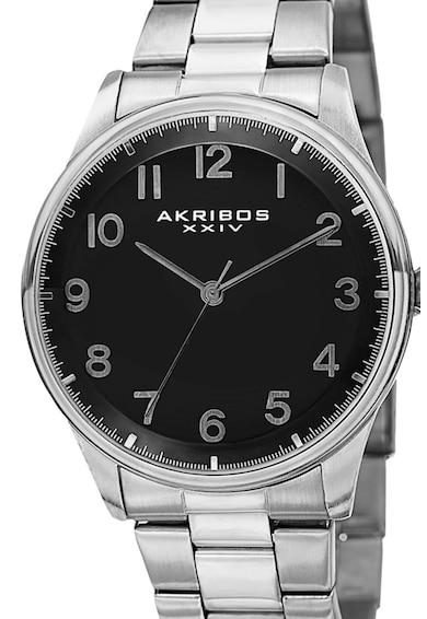 AKRIBOS XXIV Овален часовник с метална верижка Мъже
