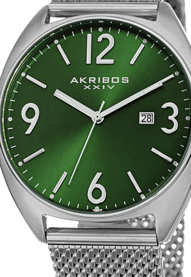 AKRIBOS XXIV Мултифункционален часовник с мрежеста верижка Мъже