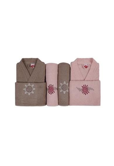 Cotton Box Set de halat de baie si prosoape Femei