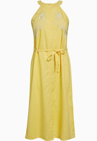 NEXT Bővülő fazonú lentartalmú ruha hímzett részletekkel női
