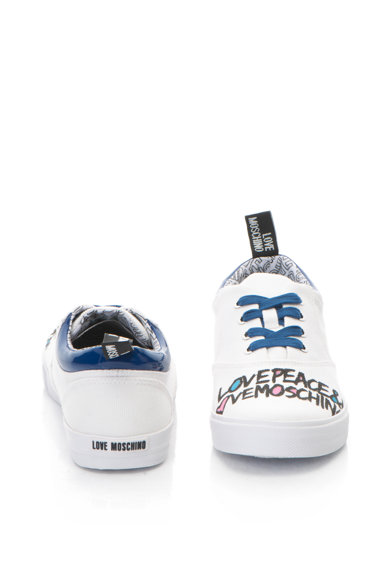 Love Moschino Szövegmintás plimsolls cipő női
