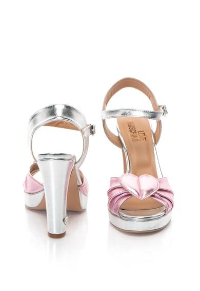 Love Moschino Sandale cu aspect metalizat si toc inalt Femei