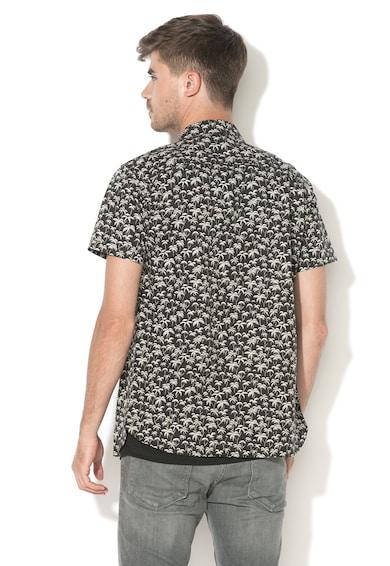 458afdd047 Hawaii Slim Fit trópusi mintás ing - Jack&Jones (12133894-BLACK)