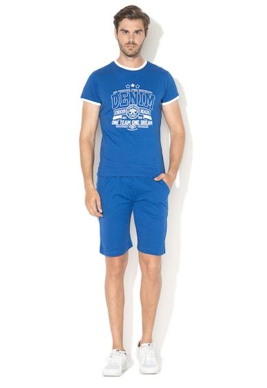 Zee Lane Szövegmintás póló és bermuda nadrág szett férfi