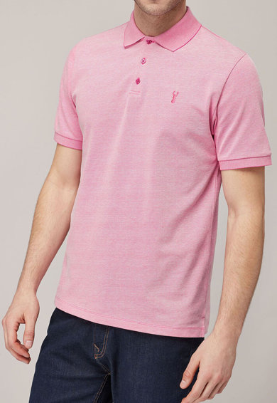 NEXT Тениска с яка, стандартна кройка и бродерия Мъже
