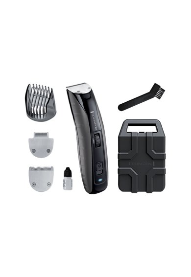 Remington Trimmer pentru barba  , Rezistent la socuri, Acumulator, Lavabil, indicator LED, Negru Barbati