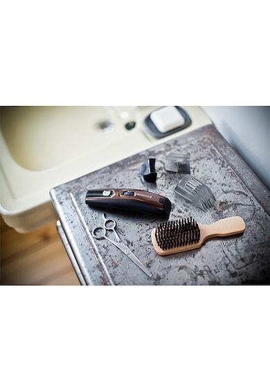 Remington Aparat de tuns   pentru barba si mustata, Trimmer, Acumulator, lame lavabile din titan, Negru/Maro Barbati