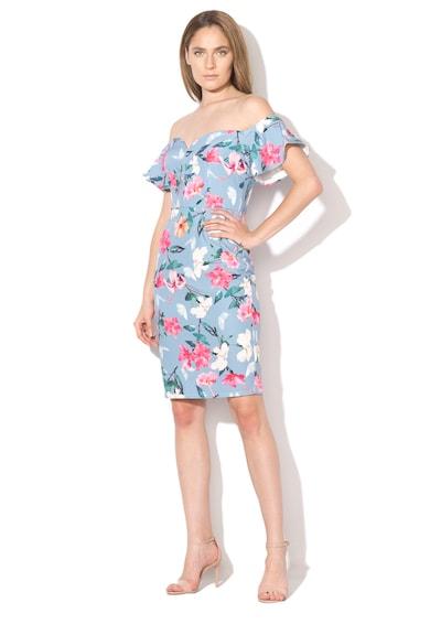 Paper Dolls Rochie cu model floral si decolteu pe umeri Femei