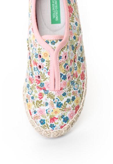 United Colors of Benetton Virágmintás bebújós cipő Fiú