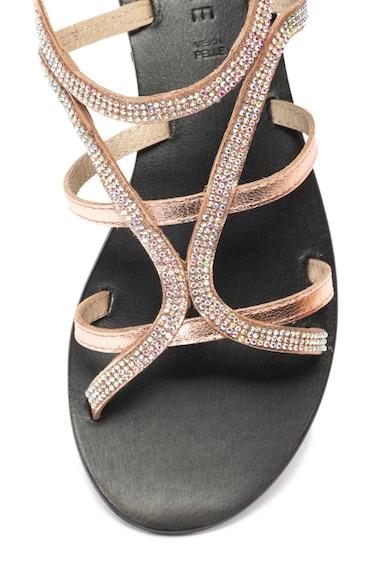 Zee Lane Sandale de piele cu barete multiple si strasuri Jada Femei