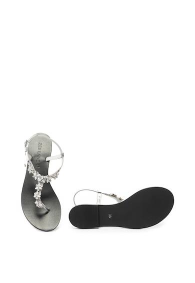 Zee Lane Sandale de piele cu bareta separatoare si strasuri Jada Femei