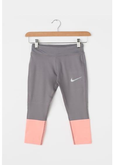 Nike Power futóleggings kontrasztos panelekkel Lány