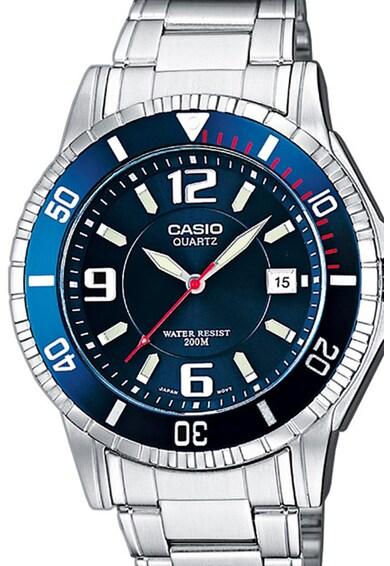 Casio Кварцов часовник с метална верижка Мъже