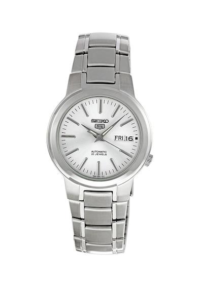 Seiko Автоматичен часовник с неръждаема верижка Мъже